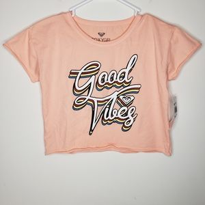 Good Vibes Crop Shirt by Roxy Girl